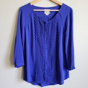 Anthropologie [Maeve] Embroidered Lace Blouse